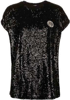 Balmain sequinned T-shirt