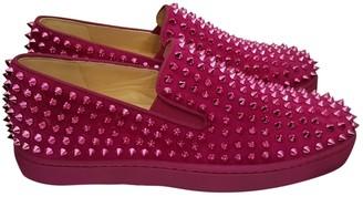 Christian Louboutin Pink Velvet Lace ups