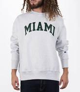 Champion Men's Miami Hurricanes College Weave Crew Sweatshirt