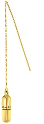 True Rocks 18 Carat Gold Plated Pill Pull Through Earring