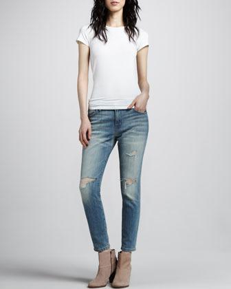 Current/Elliott The Slouchy Stiletto Jeans, Destroy Wash