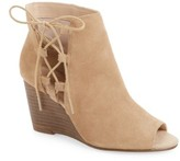 Sole Society Women's Bobbi Cutout Wedge Bootie