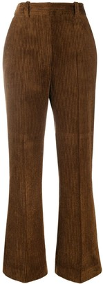Sandro High-Rise Corduroy Flared Trousers