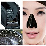 Nose Removal Blackhead Blackhead Cleansing Mask, 5Pcs Mineral Black Mud Nose Removal Blackheads Purifying Peel Acne Face Mask