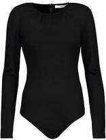 Tibi Gathered Wool-Jersey Bodysuit