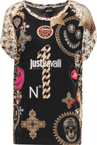 Just Cavalli Printed stretch-jersey T-shirt