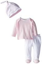 Fendi Long Sleeve Top and Footed Pants + Hat Gift Set Girl's Active Sets