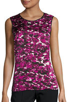 Kasper Suits Abstract Print Shell Top