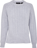 Oxford Ashley Cable Knit Gry X