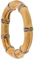 Bottega Veneta wood-effect bangle