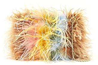 Loeffler Randall Zelda Feather Baguette Crossbody Bag in Multicolor