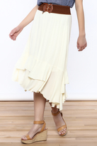 onetheland Belted Maxi Skirt