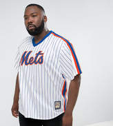 Majestic Plus Mlb New York Mets Overhead Baseball Jersey In White