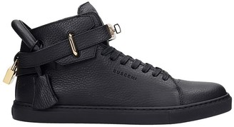 Buscemi 100 Mm Sneakers In Black Leather