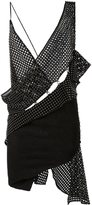 Anthony Vaccarello woven asymmetric dress - women - Polyester - 38
