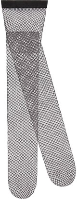 Gucci Logo Fishnet Tights