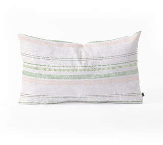 Deny Designs Holli Zollinger French Stripe Blush Oblong Throw Pillow