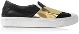 N°21 Black & Gold Metallic Leather Slip-on Sneaker