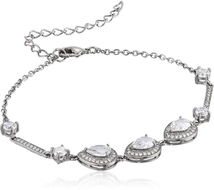 Nina Tamela Pear Shaped Haloed Bracelet