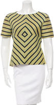 Opening Ceremony Striped Short Sleeve Top