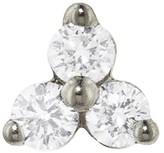 Maria Tash 6.5mm Large Three Diamond Trinity Thread Through Single Earring - White Gold