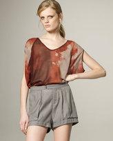 Twill Patch-Pocket Shorts