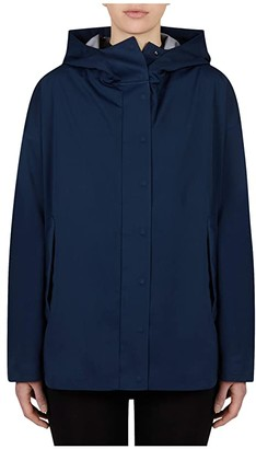 Save The Duck Bark Hooded Jacket (Navy Blue) Women's Clothing