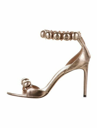 Alaia Patent Leather Studded Accents Sandals Pink
