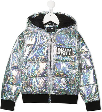 DKNY Iridescent Rain Jacket