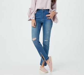 Peace Love World Girlfriend Jeans with Front Slit