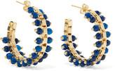 Rosantica Airone Gold-tone Quartz Hoop Earrings - Blue