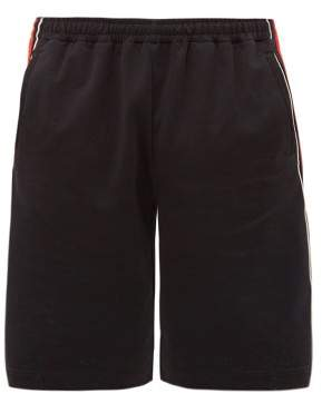 Gucci Band Logo-embroidered Shorts - Mens - Black Red