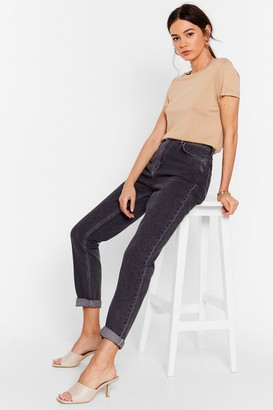 Nasty Gal Womens Are You Up to It High-Waisted Mom Jeans - Grey - 4, Grey