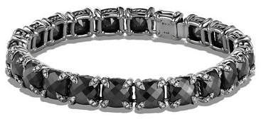 David Yurman 7mm Linear Faceted Bracelet with Diamond Prongs