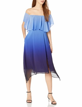Rachel Roy Women's Ombre Ruffle Midi Dress