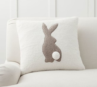 Pottery Barn Pom Pom Bunny Sherpa Pillow Cover