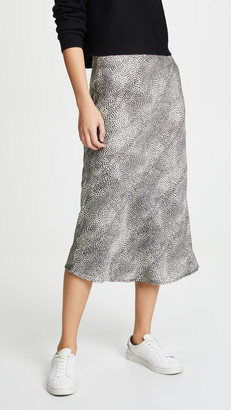 re:named apparel Leopard Midi Skirt