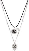 His & Her Shamrock Necklace Set