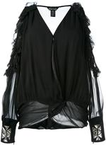 Thomas Wylde cold shoulder blouse - women - Silk - S
