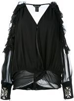 Thomas Wylde cold shoulder blouse - women - Silk - S