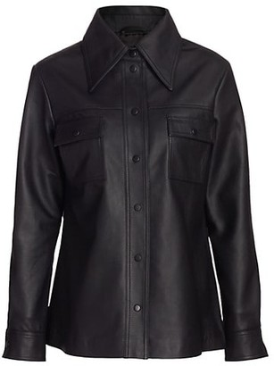 REMAIN Birger Christensen Rosalee Leather Shirt