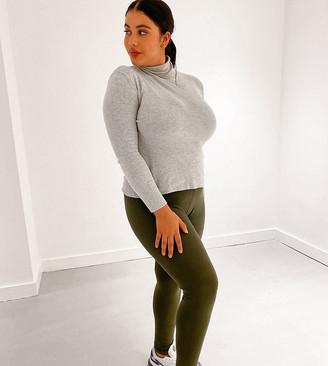 Yours leggings in khaki