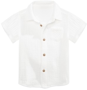 First Impressions Baby Boys Crinkled Gauze Cotton Shirt, Created for Macy's