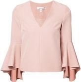 Milly bell sleeve blouse - women - Polyester/Spandex/Elastane - 10