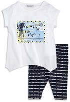 3 Pommes Girls' French Riviera Tee & Leggings Set - Baby