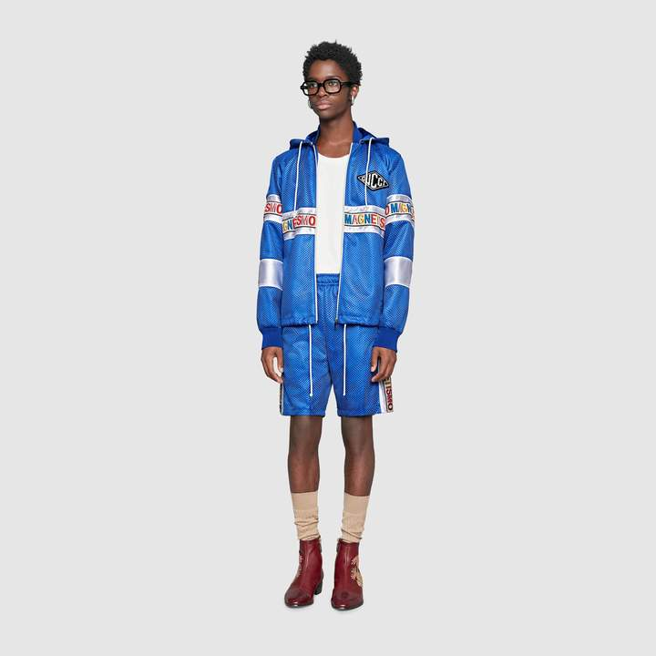"""Gucci Net shorts with """"Magnetismo"""" stripe"""