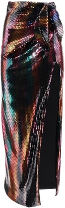 ATTICO Long Sequined Skirt