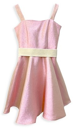 Un Deux Trois Girl's Glitter Fit-&-Flare Dress