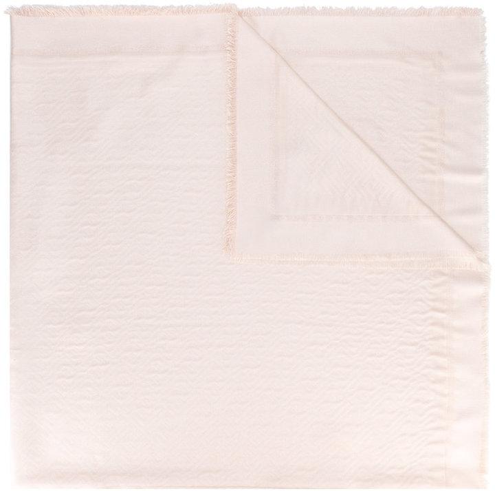 Fendi frayed edge shawl