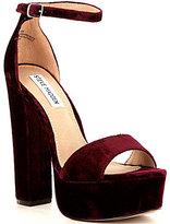 Steve Madden Gonzo Velvet Platform Block Heel Dress Sandals